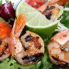 海鮮BBQ(バーベキュー)の食材、海老のマリネグリル